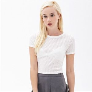 3/$20 Deal Forever 21 Ribbed Crop Top